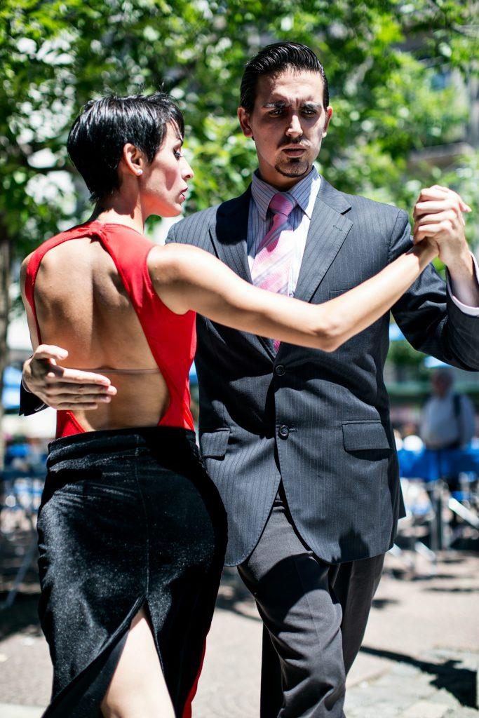 tango, dans, par