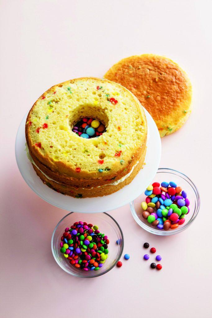Smarties-kage, fødselsdagskage, dessert