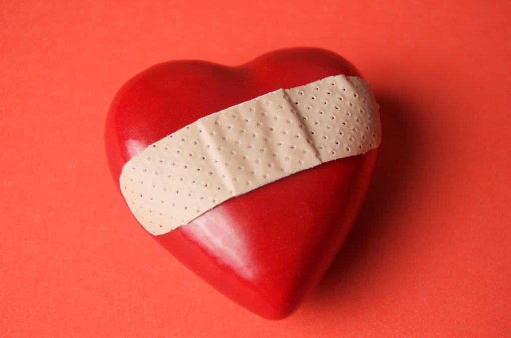 plaster, hjerte,