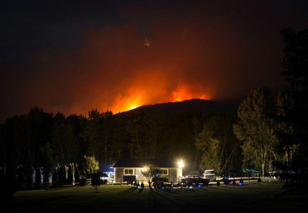 canada, british columbia, brand, brande, skovbrande, naturkatastrofer, natur, miljø, tørke, lynnedslag