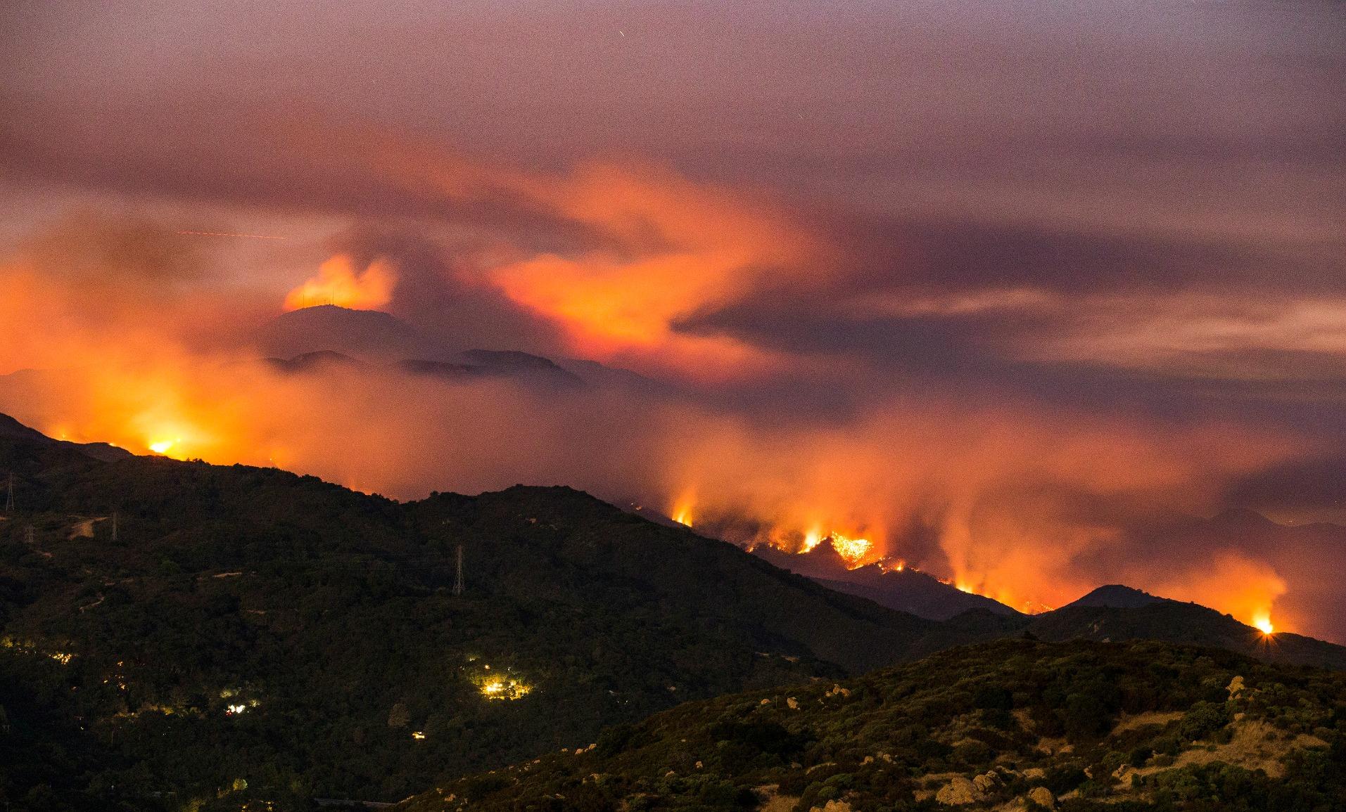 Skovbrand Santa Barbara