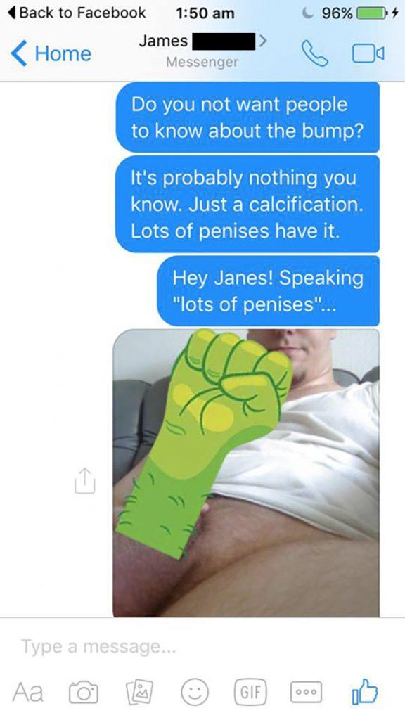 dick pic facebook