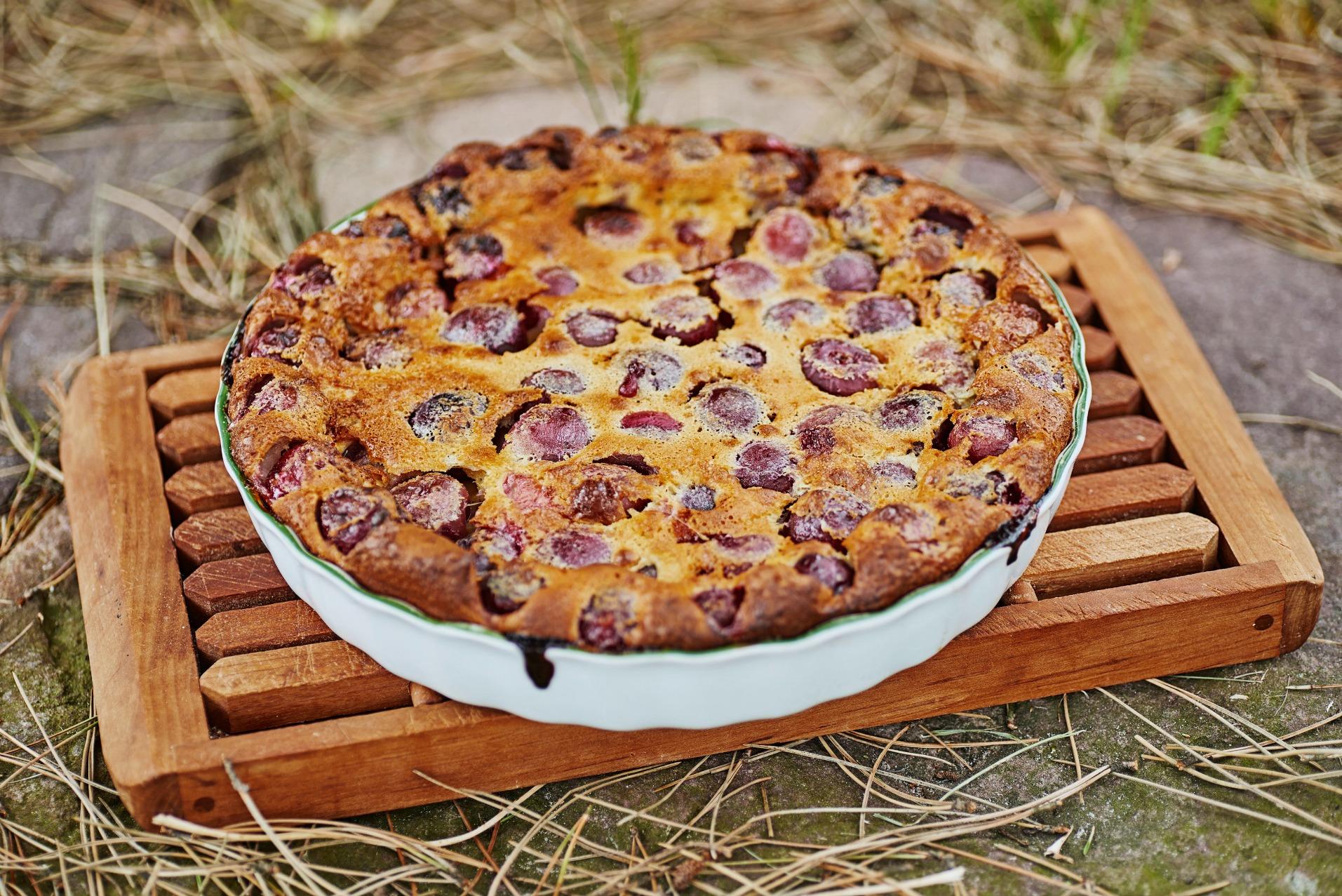 -Annicks kirsebærclafoutis brøndum, kirsebærtærte, clafoutis