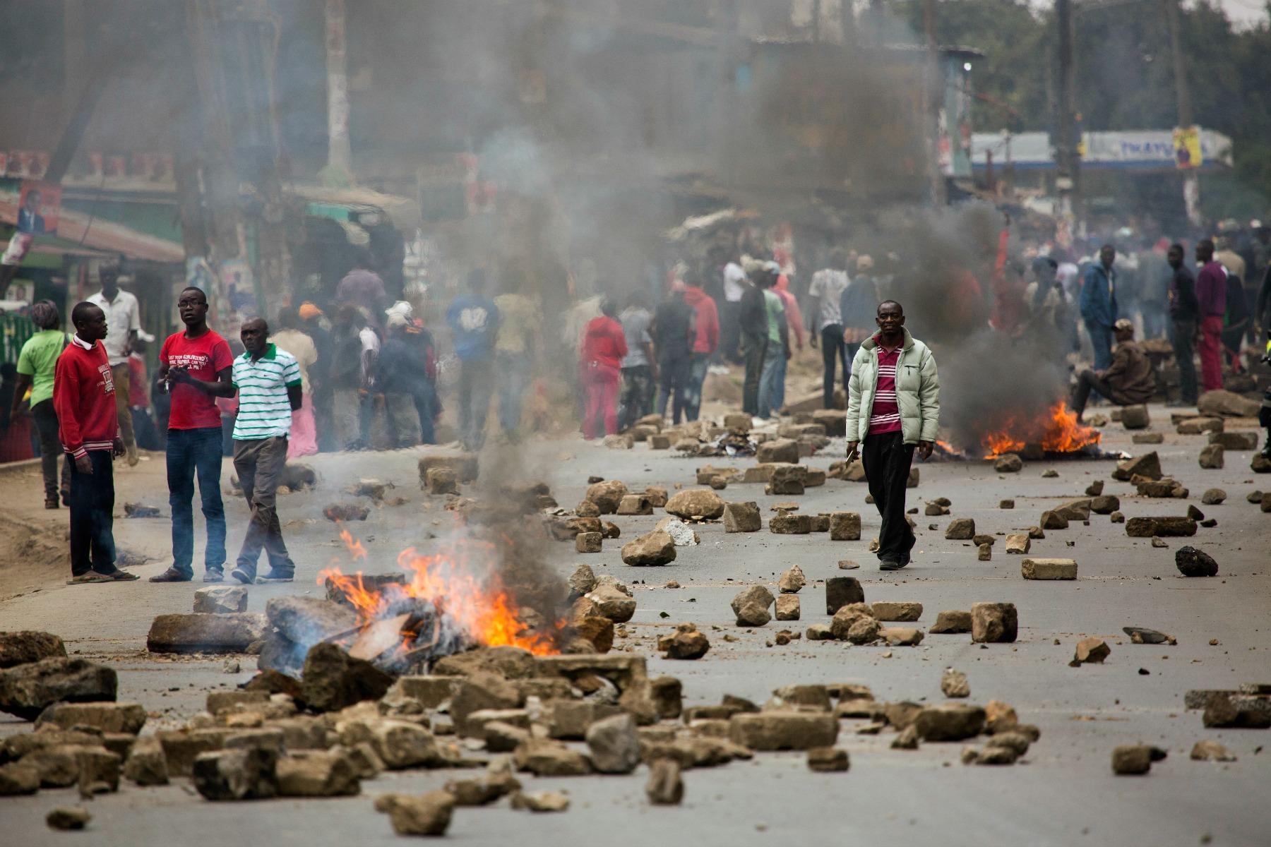 nairobi, kenya, demonstration, valg