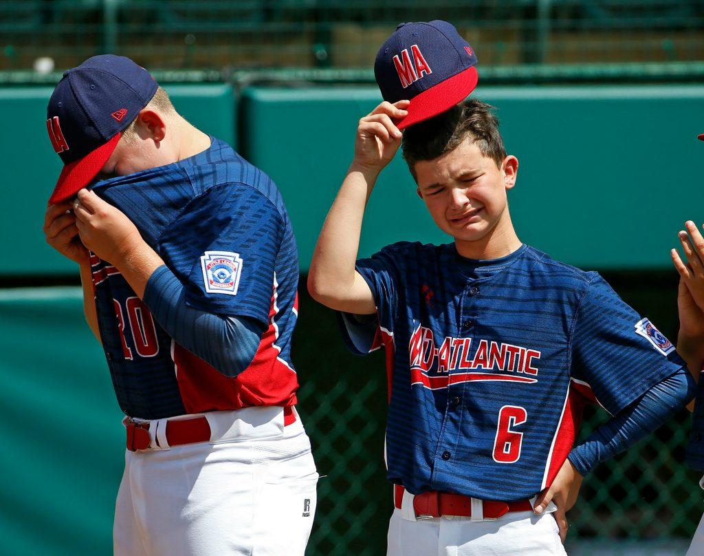 baseball, usa, tab, kamp, sport, nederlag, trist, ked, drenge,