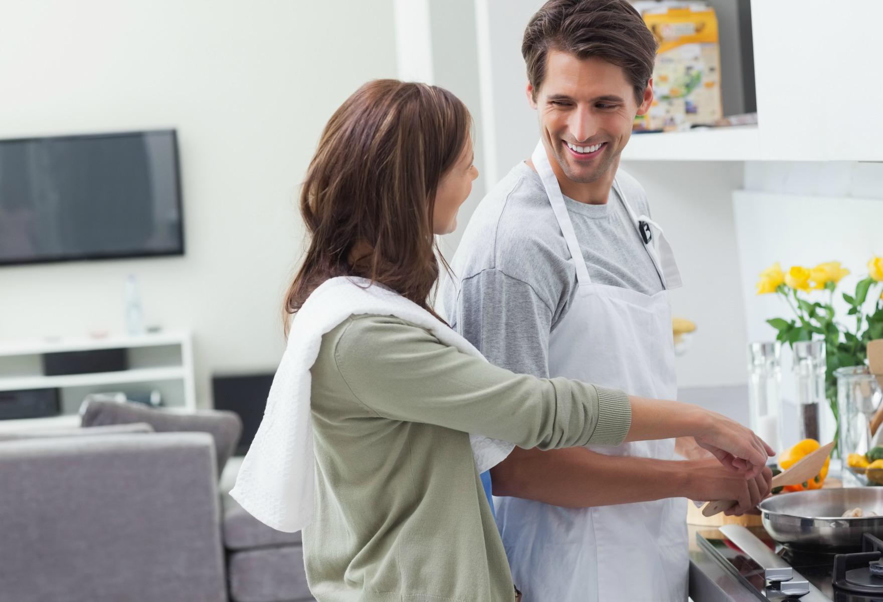 par, madlavning, forhold, mad, kæreste, flytte sammen