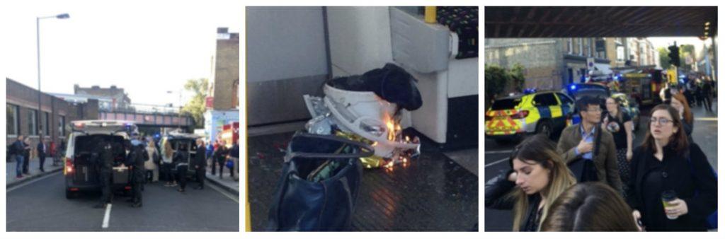 london, parsons green, eksplosion, england, britisk, politi, brandvæsen, sårede, forbrændte, tog, metro, metrostation