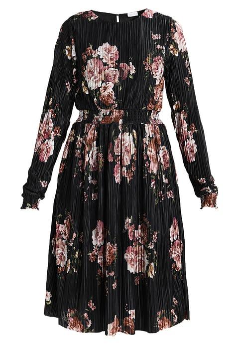 blomstret, kjole, blomster, mode,