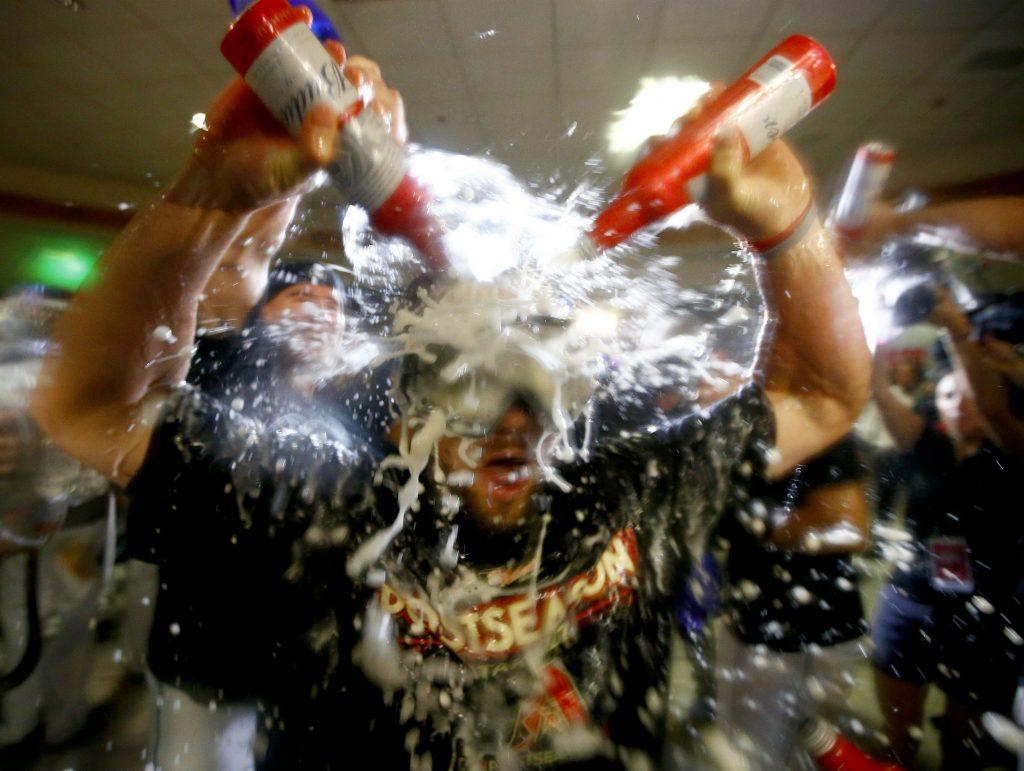 baseball, usa, amerika, sport, kamp, champagne, sejr, vundet, fejrer