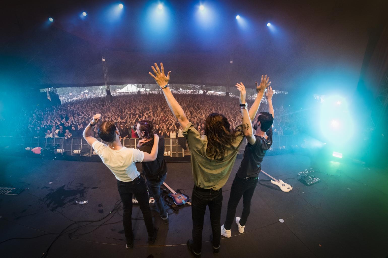 Danske Blaue Blume kommer oprindeligt fra Aalborg. Her spiller bandet på Roskilde Festival sidste år. (Foto: /ritzau/)
