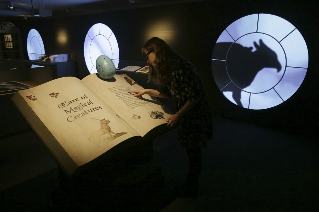 harry potter, udstilling, british library, bibliotek,