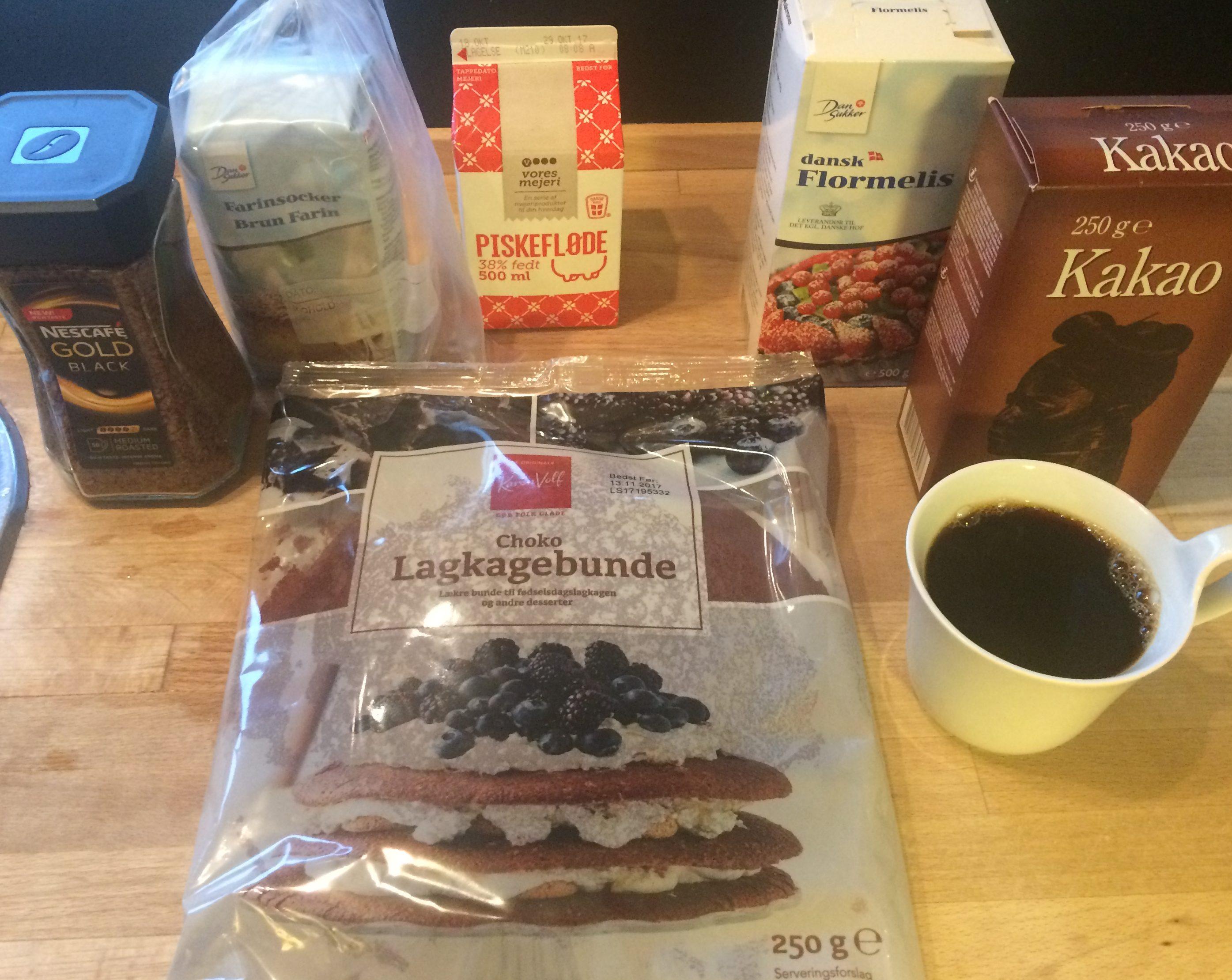 opskrift, kaffe, mokkalagkage, chokolade, lagkage, lækkerier, hygge, flødeskum