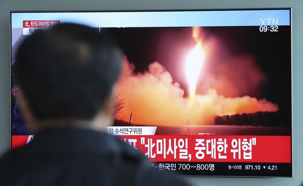 nordkorea, ballistisk missil, missil, missiltest, testaffyriner, atommagt, atomvåben, atom, usa, konflikt, kim jong-un, donald trump, trussel, nordkorea,
