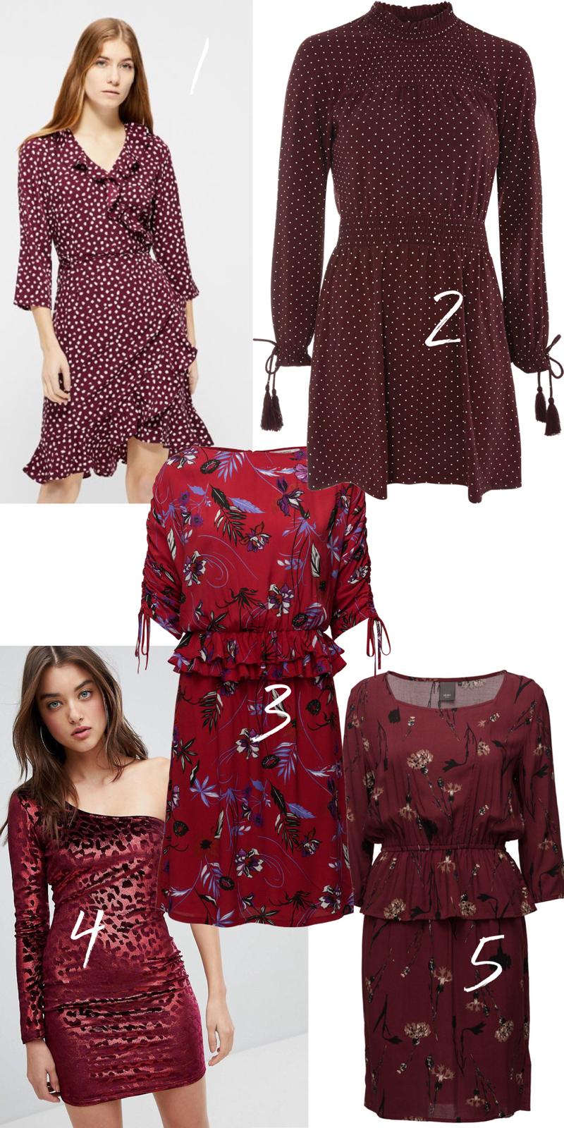 rød kjole, røde kjoler