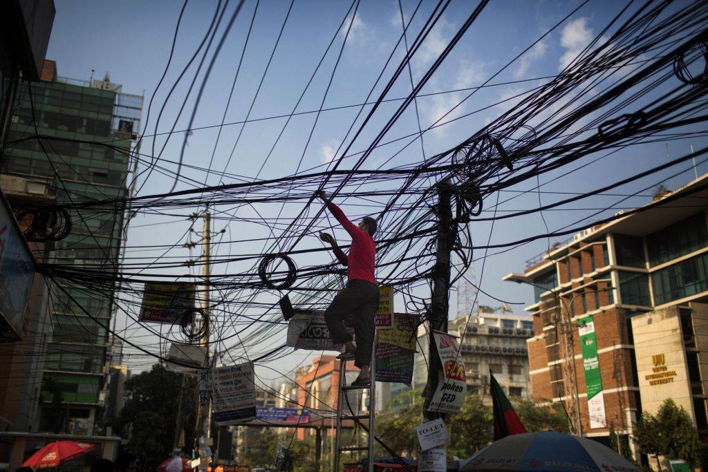elektricitet, ledning, dhaka, bangladesh,