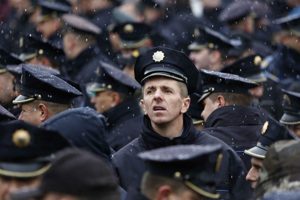 demonstration, protest, bosnien, politi, pension, pensionslov