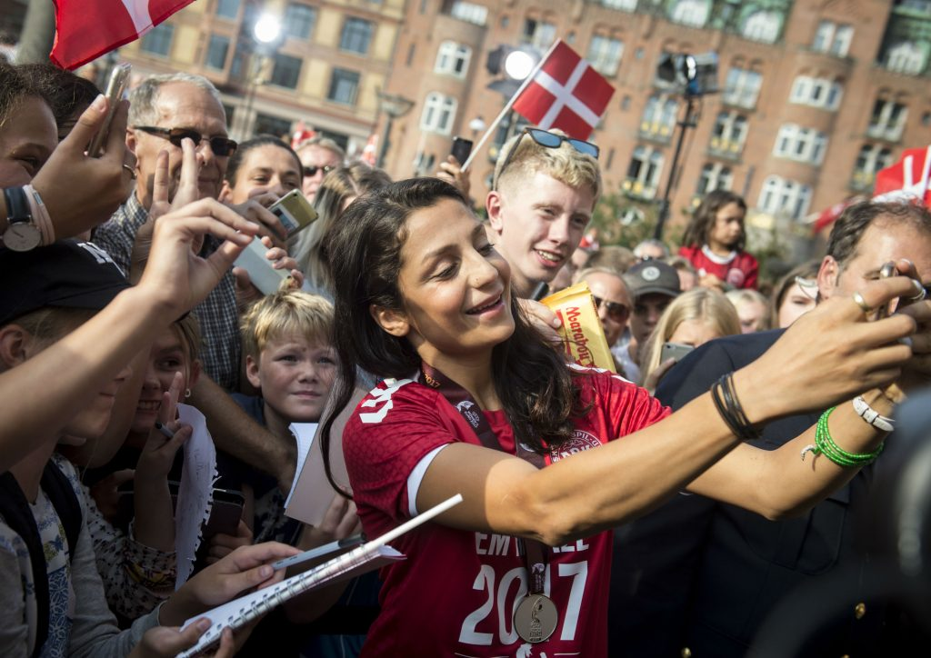 årets dansker, nadia nadim, fodbold, forbillede, ikon, idol, kåring, dansker, forbillede, damefodbold, kvindefodbold, sport,