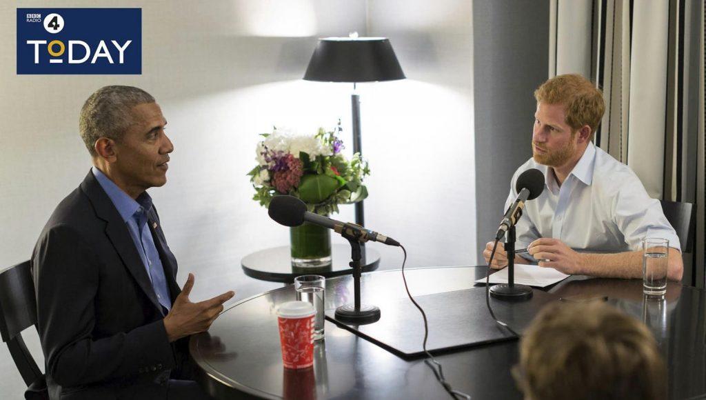 Prins Harry interviewer Barack Obama til BBC Radio 4, hvor prinsen var gæsteproducer. (Foto: /ritzau/)