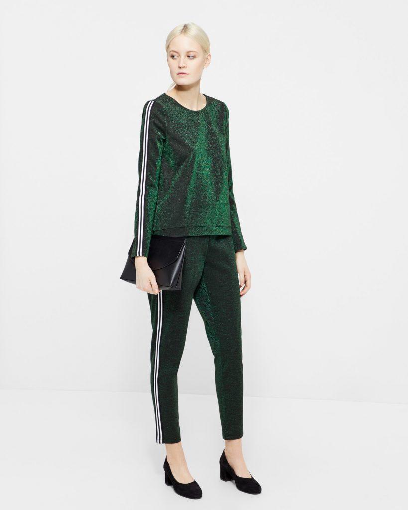 Vero Moda Glitter bluse - Grøn sæt