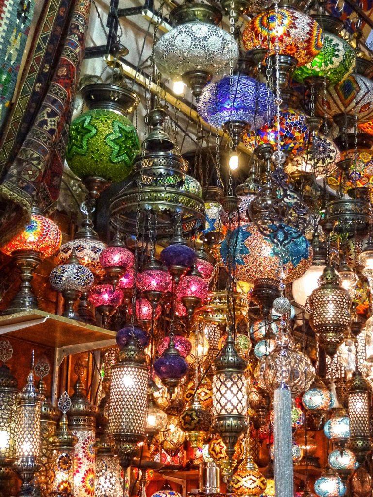 lamper, mosaik, farvet glas, tyrkiske lamper, istanbul
