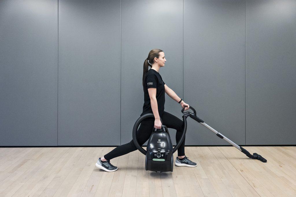 a-fys, fysioterapi, træning, øvelser, træning, støvsuger, rengøring, gør rent, styrketræning, hygiejne, støv, forskning, fedme, overvægt, fedt, vægttab, nytårsforsæt, støvsuger, electrolux, fysiodanmark,