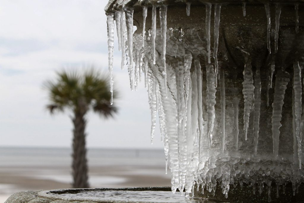 bro, ohio, usa, canada, kulde, frost, sne, is, nedfrysning, mississippi, vejr, klima, miljø