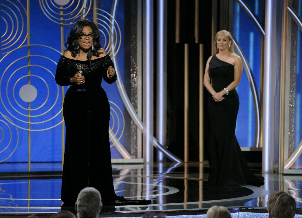 oprah winfrey, the golden globe awards, golden globes, pris, cecile b demille, lifetime achievement award, #metoo, metoo, me too, times up, kvinder, mænd, ligestilling, chikane, rettigheder, magt, magtmisbrug, vold, overfald, ulighed, piger, forbilleder, rosa parks, recy taylor, hollywood, skuespillerinder, sex,