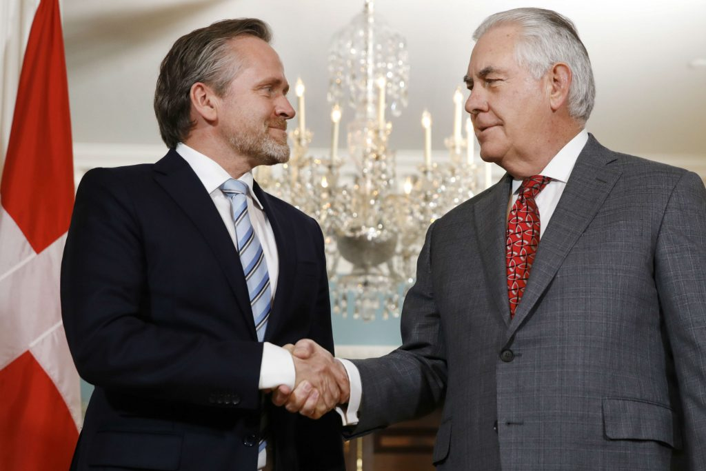 anders samuelsen, rex tillerson, danmark, usa, møde, positiv, samarbejde, trump, trump-administrationen