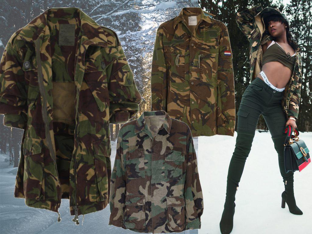 militærtøj, militærstøvler, armyjakker camouflagejakker militærjakker vintage armytrenden