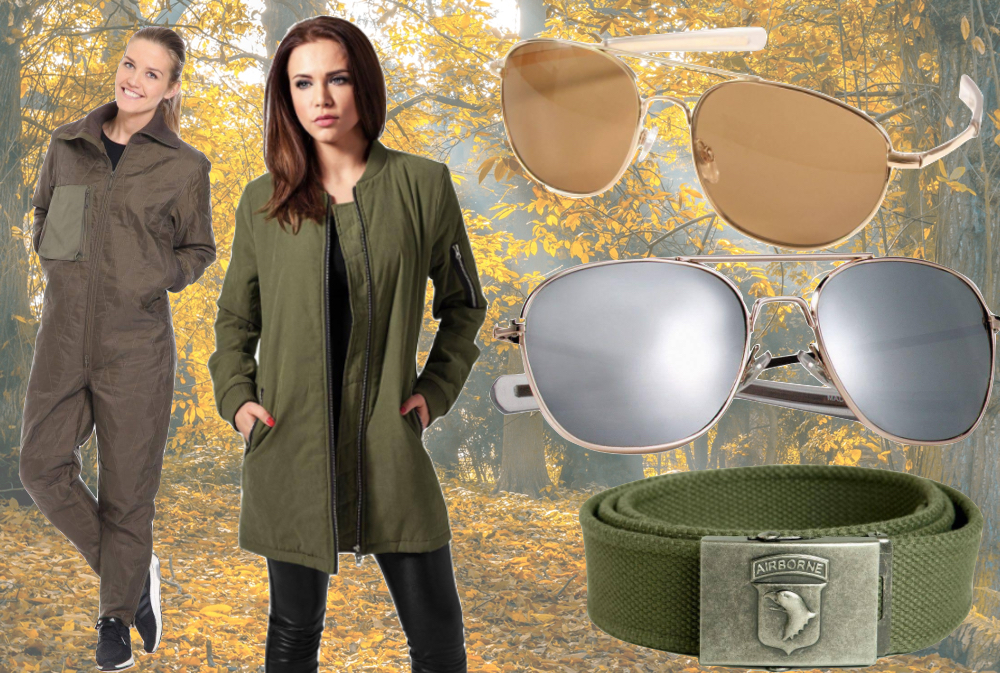 flyverdragt militaer pilotbriller baelte, militærtøj, armytrenden, militærstøvler, militærjakker