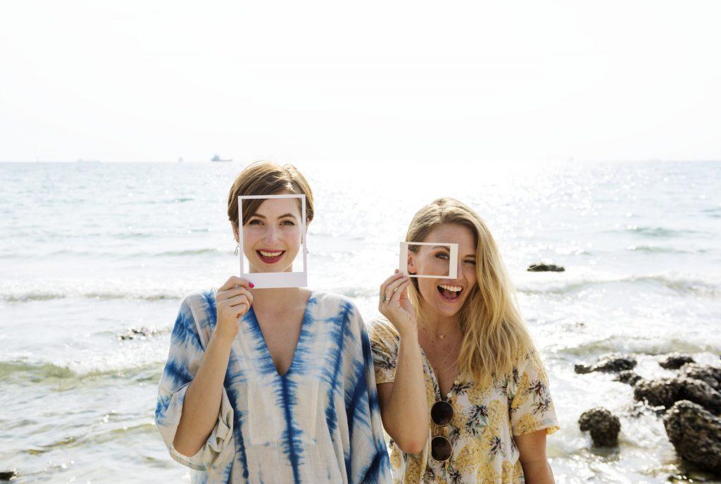 to kvinder strand instagram billeder rammer veninder