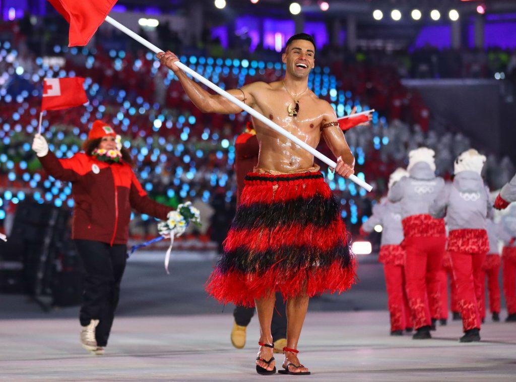 pita taufatofua, ol, vinter-ol, sydkorea, tonga, olie, olieindsmurt, bar overkrop, nationaldragt, teakwondo, langrend, kvalificering, sport,