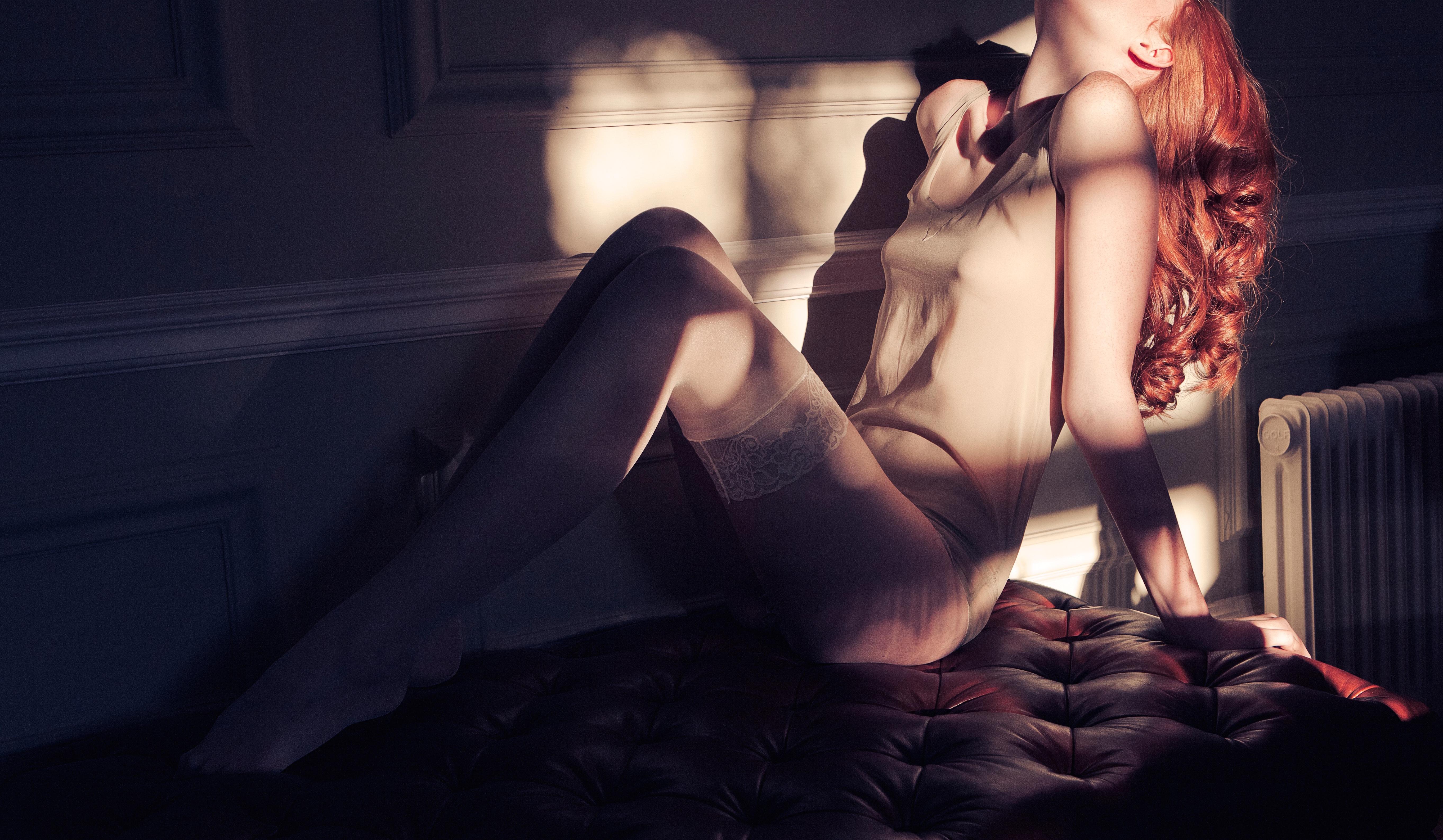 Woman posing sensually