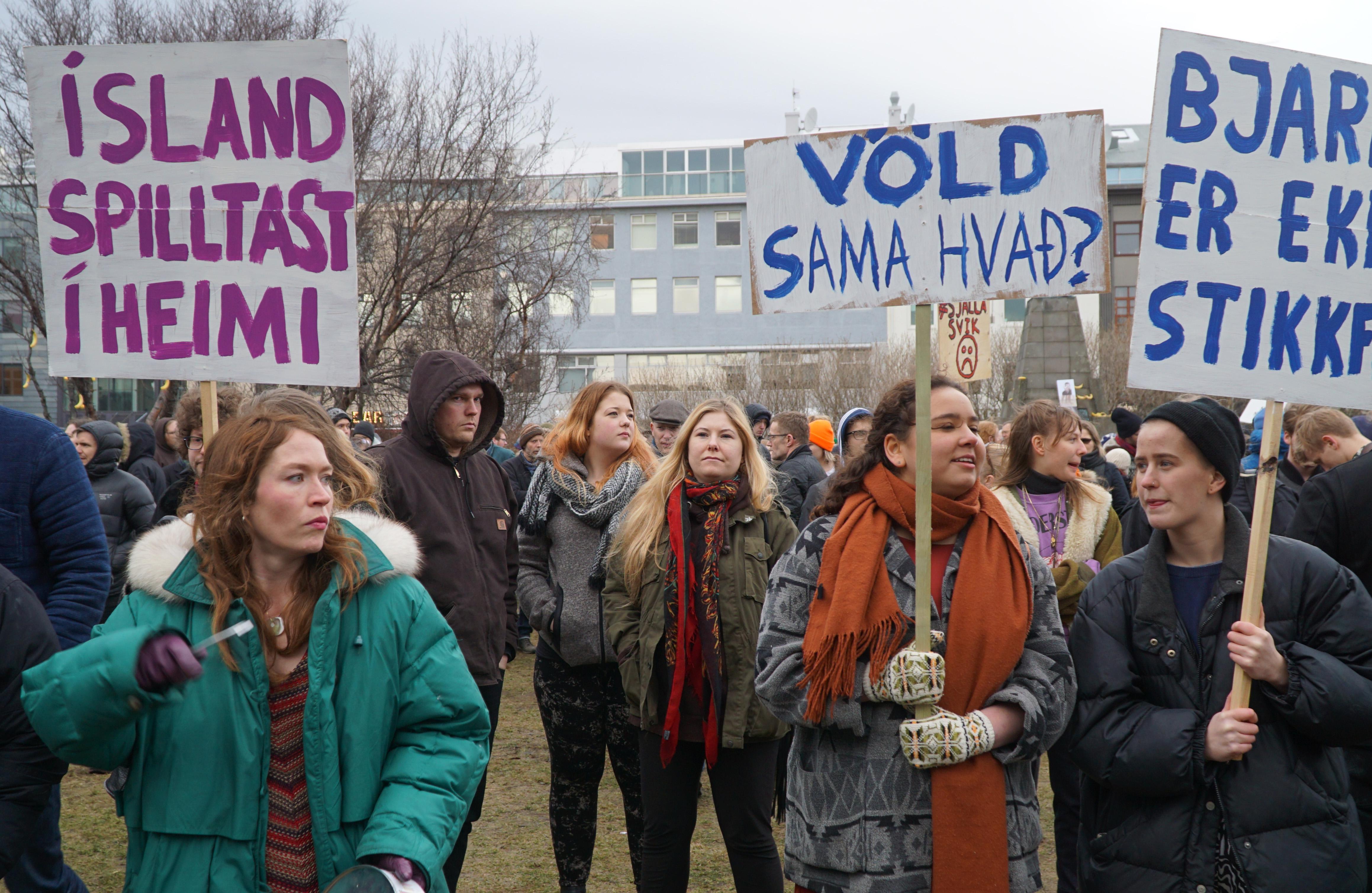 Demonstration i Reykjavik