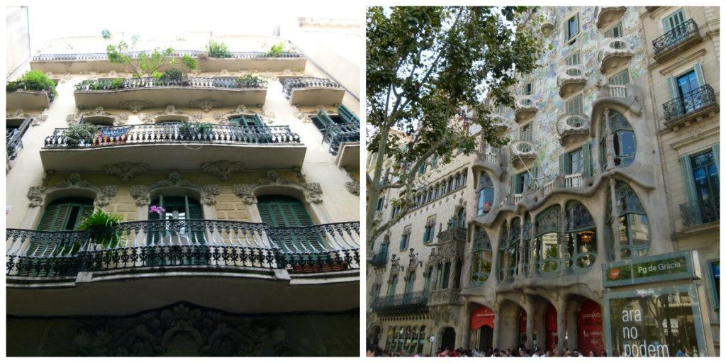 Barcelonas bygninger er den ene arkitektoniske perle efter den anden. Så kig op, så ofte du kan. (Foto: Privat)