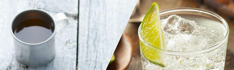 Drik dig i balance: Urtete om morgenen – G&T om aftenen. (Foto: Polfoto, All Over)