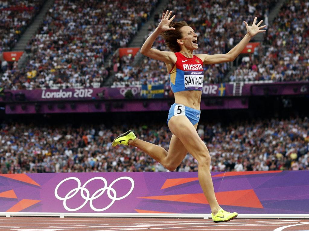 Ruslands løber Mariya Savinova vandt guld til OL i London 2012. Nu er 68 russiske atletikudøvere blevet udelukket fra OL i Rio 2016 på grund af doping. (Foto: Polfoto)