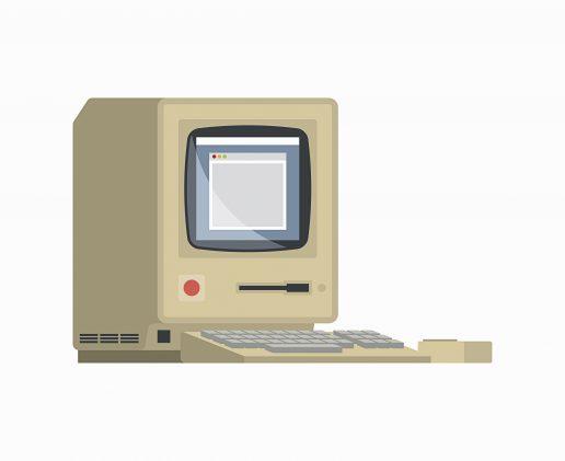 Internettet fylder ikke 25 år i dag. Til gengæld så en computer nogenlunde sådan her ud, dengang internettet blev gjort offentligt i slutningen af firserne. (Foto: Polfoto)