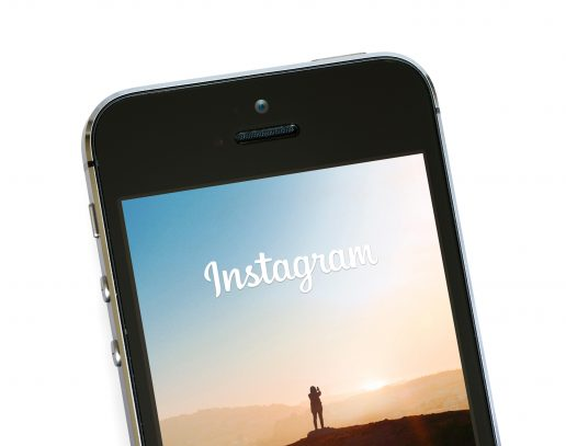 Instagram app on an Apple iPhone 5S