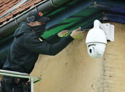 Overvågningskamera på Pusherstreet