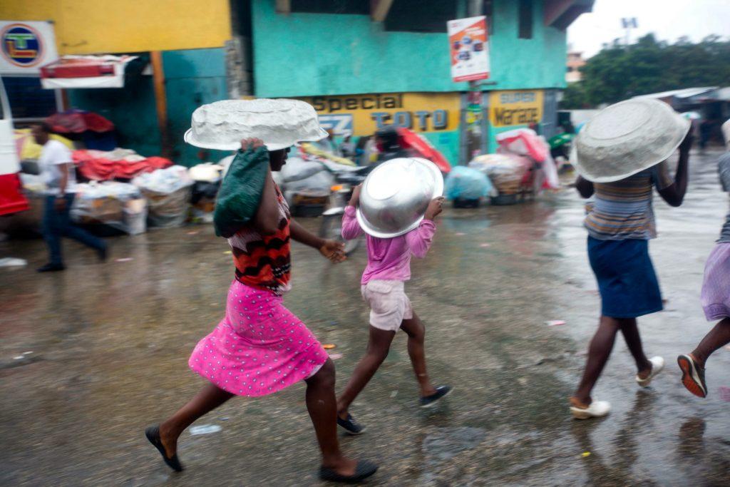 Orkanen Matthew har ramt Haiti. (Foto: Polfoto)