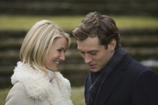 Screenshot fra filmen: The Holiday med Jude Law og Cameron Diaz