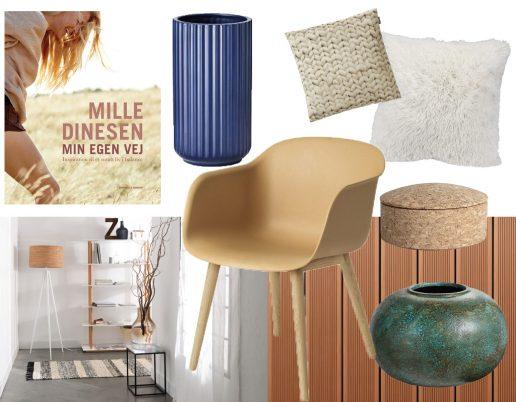 Collage med interior og bolig
