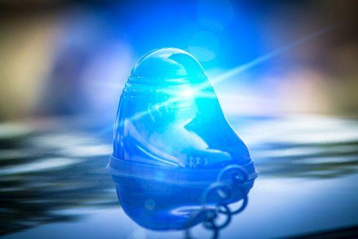 politi, blå blink