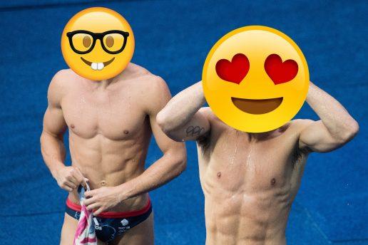 To mænd med emoji-ansigter (og bar overkrop). Hvilken kvalitet SKAL din drømmepartner besidde?
