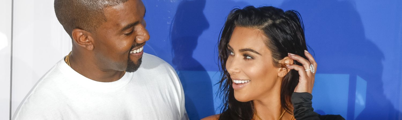 Kim Kardashian og Kanye til MTV (Foto: All Over)