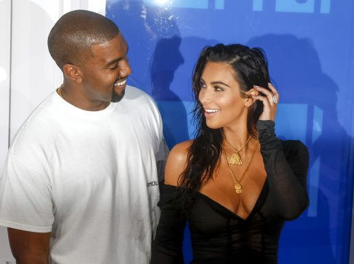 Kim Kardashian og Kanye til MTV (Foto: All Over)