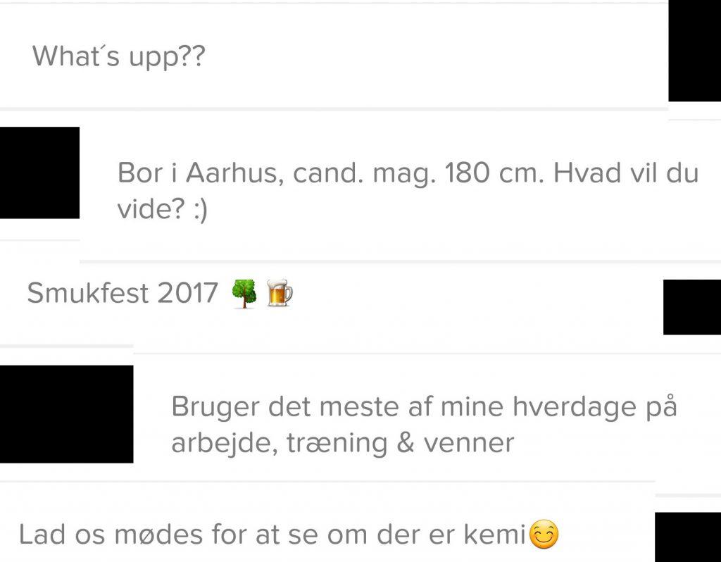 Screenshots fra Tinder. Foto: Privat