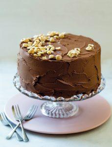 Chokoladekage, nutella, glasur, nutellaglasur, dessert, kageopskrift