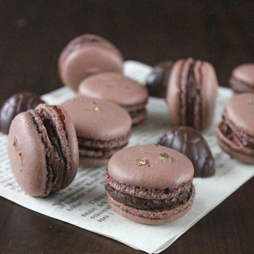 Toms, dessert, macarons, ganache, chokolade, kæmpe skildpadde, chokolade, opskrift, mad,